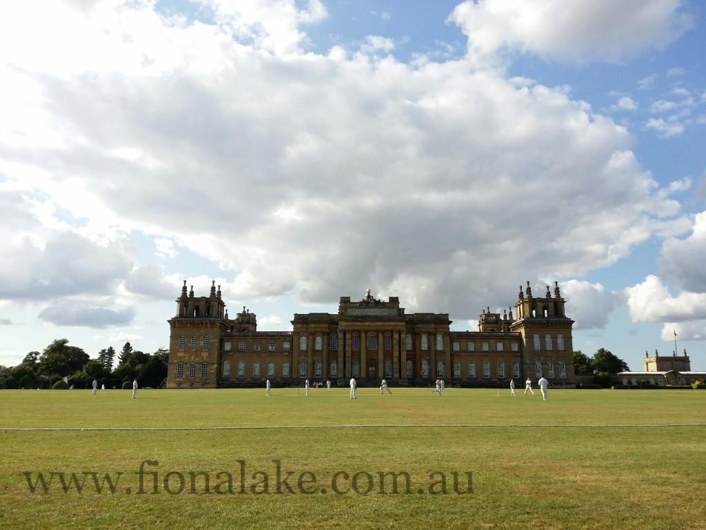 Blenheim Palace cricket match.