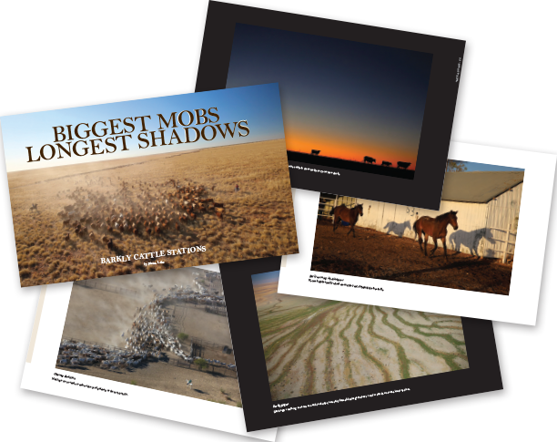 'Biggest Mobs - Longest Shadows' book of outback cattle station photographs